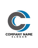 C letter Business Finance professional logo vector. For financial business insurance abstract Stock Photo