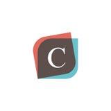 C letter icon retro logo design. Vintage company sign vector des. C letter icon retro logo design. Vintage company sign Stock Photos