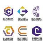 C letter logo design vector illustration logo set. C letter logo vector, letter C logo vector, creative Letter C letter logo Royalty Free Stock Photography