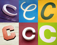 C letter - Urban collection. C letter - the Urban collection stock images