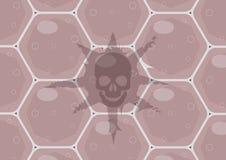 C?lulas cancerosas La importancia del control m?dico anual y de la prueba de la DNA para el riesgo subyacente para los tumores imagen de archivo