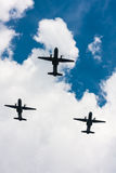 C-295 M CASA planes in the sky Royalty Free Stock Image