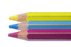 C-M-Y pencils Royalty Free Stock Photography