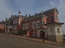 C?mara de Myshkin na cidade de Myshkin no inverno na luz da manh? imagem de stock