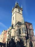 C?mara municipal velha, Praga, rep?blica checa fotografia de stock