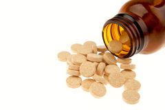 c marque sur tablette la vitamine Photos stock