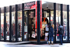 A C Milan Official Store Arkivbild