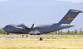 C-17 Military Cargo Transport Aircraft Royalty Free Stock Photography