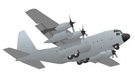 C-130 Military Transport Cargo Aircraft Vector Stock Photos