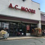 A C Moore-Schaufenster Stockbilder