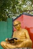 C n Statue d'Annadurai dans la ville de Karaikudi photographie stock libre de droits