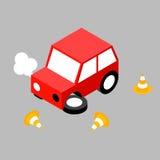 Cône d'accident de voiture Image stock
