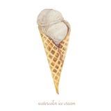 Cône de gaufre de crème glacée  Photographie stock libre de droits