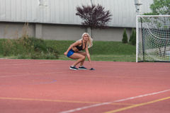 Cône de Running To The d'athlète photos libres de droits