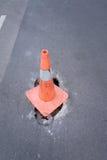 cônes d'avertissement de route Photographie stock