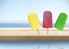 Cônes de glace d'été Images libres de droits