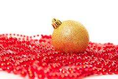 Cônes de sapin de boules de Noël Images libres de droits
