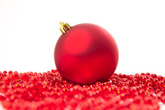 Cônes de sapin de boules de Noël Image libre de droits