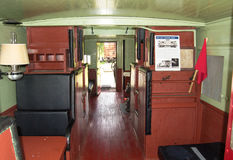 1949 C & O守车内部90219,克利夫顿伪造, 库存照片