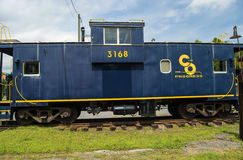1968 C & O Caboose 3168, Clifton Forge, Royalty-vrije Stock Foto's