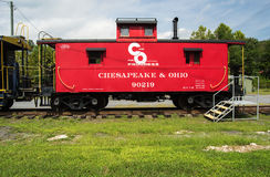 1949 C & O Caboose 90219, Clifton Forge, VA Royalty-vrije Stock Afbeelding