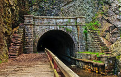 C&O Canal Paw Paw Tunnel. The downstream opening of the Paw Paw Tunnel on the Maryland and West Virginia border, part of the C&O Canal Royalty Free Stock Images