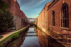 C&O kanał, Georgetown, washington dc zdjęcia stock