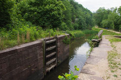 C&O Lock. An old Canal Lock abandoned along the ruins of the C&O Canal Stock Photography