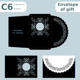 C6 openwork paper converter for romantic messages Royalty Free Stock Photos