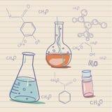 C Oud wetenschap en chemielaboratorium Stock Afbeeldingen