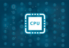 C.P.U. и концепция представления для компьютеров и мобильных устройств как иллюстрация вектора