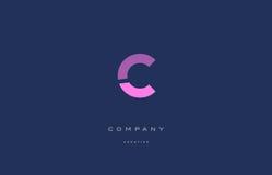 C pink blue alphabet letter logo icon Royalty Free Stock Photos