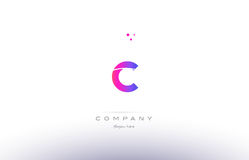 c pink modern creative alphabet letter logo icon template Stock Photography