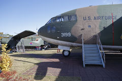 C-123 Provider Transport, (USA), War Memorial of Korea, Jeonjaeng ginyeomgwan, Yongsan-dong, Seoul, South Korea - NOVEMBER 2013 Royalty Free Stock Photo