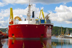 C/S Skagerrak. The picture is shot while the vessel is moored to quay in the port of Halden. The ship is one of the world's most advanced laying vessels Stock Image