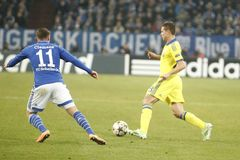 César Azpilicueta FC Schalke v FC Chelsea 8eme Final Champion League Royalty Free Stock Images