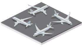 C-Series aircraft Isometric Stock Image