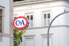 C&A sign Royalty Free Stock Image