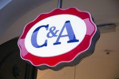C&A sklepu znak Zdjęcie Stock