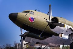 C-47 Skytrain Дугласа используемое обширно во время Второй Мировой Войны стоковое изображение