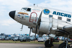 C47 Skytrain Uznanie WWII Alaska loty Zdjęcia Royalty Free