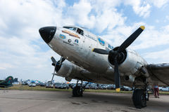 C47 Skytrain Uznanie WWII Alaska loty Obrazy Stock