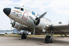 C47 Skytrain Uznanie WWII Alaska loty Fotografia Stock