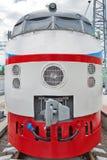 C.C. soviética do trem de alta velocidade do ER 200 Museu de Novosibirsk da estrada de ferro Fotos de Stock Royalty Free