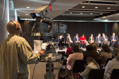 C-SPAN TV covers Newseum panel Royalty Free Stock Photography