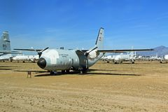 C-27 Spartan Plane in Pima Air and Space Museum Royalty Free Stock Photos