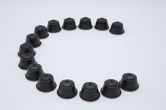 C stands for Coffee Capsules Royalty Free Stock Photos