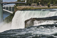 Côté américain des chutes du Niagara Images libres de droits
