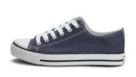 Côté bleu de chaussure de toile Images libres de droits