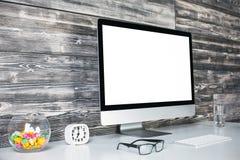 Côté créatif d'espace de travail Image stock